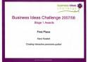 Pierwsze miejsce w konkursie Business Ideas Challenge '