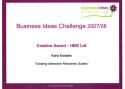 Nagroda za kreatywność w konkursie Business Ideas Challenge '