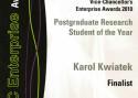 Finalista konkursu na Studenta Roku