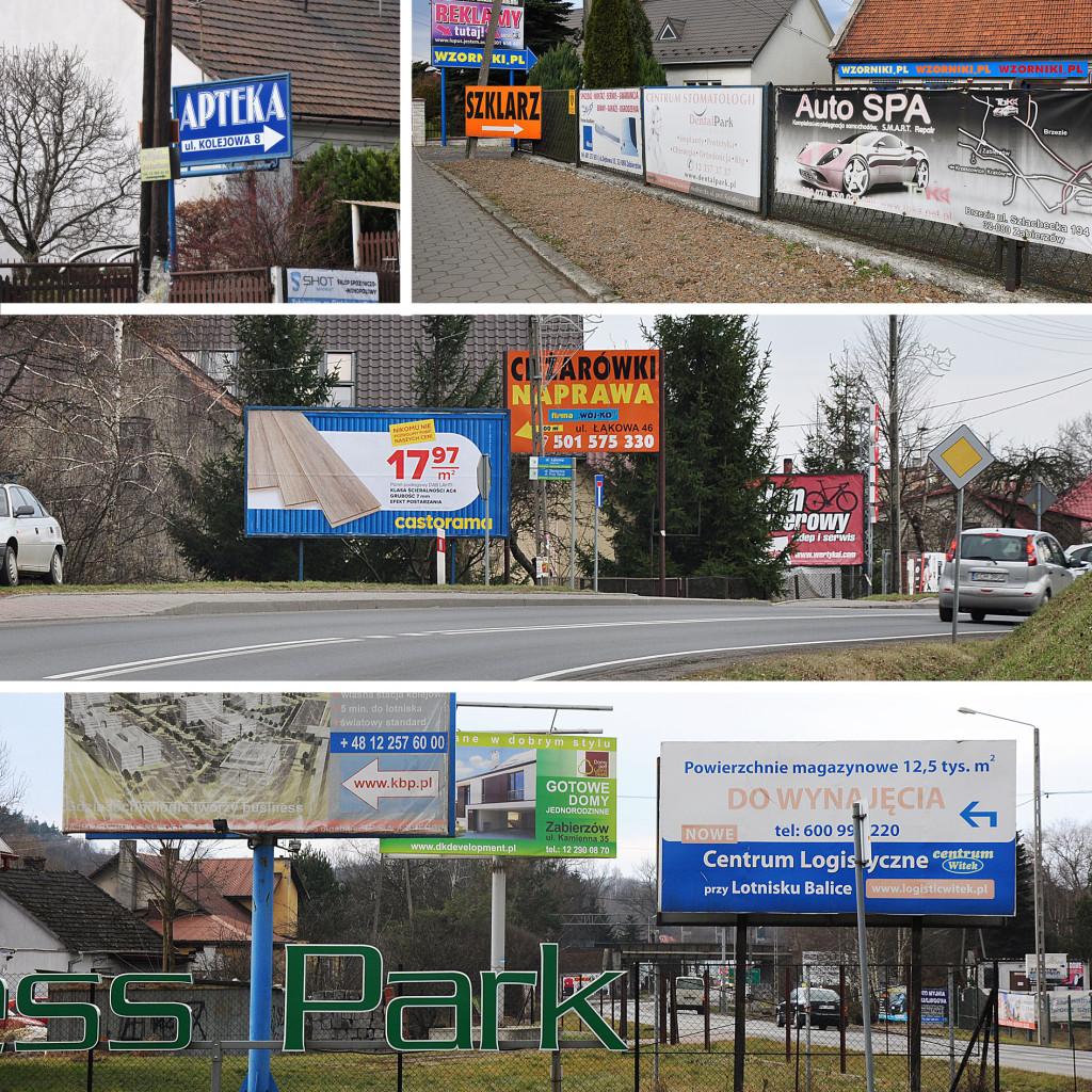 Billboardy w Zabierzowie