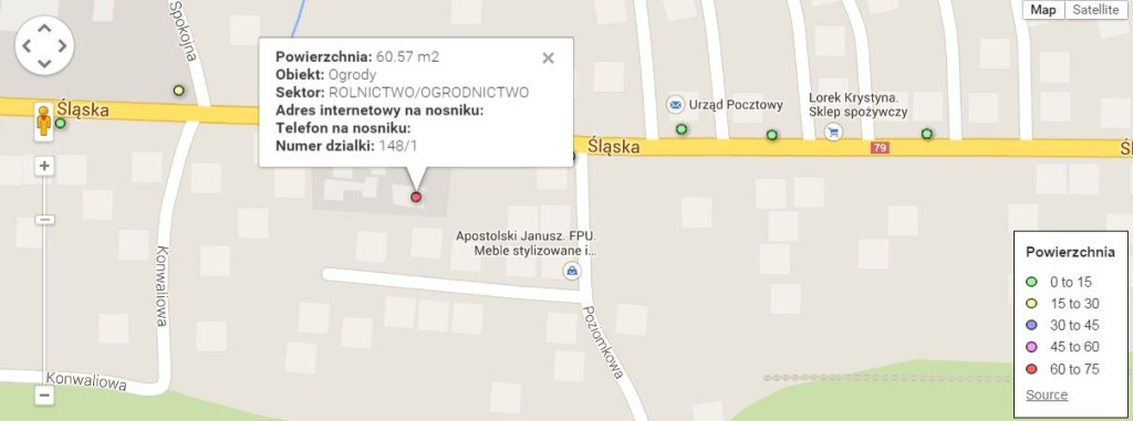 Przykładowa informacja o reklamie o powierzchni pow. 60m2 w Zabierzowie.